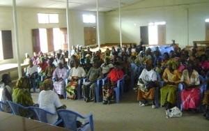 Séance de formation des OP à Kahemba