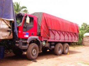 Camion dell'agenzia commerciale
