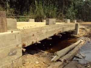 Constructions de ponts sur l'axe entre Monkoto et  Bokele